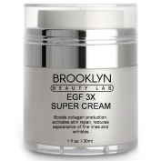 Brooklyn Beauty Lab EGF 3X Skin Repair Super Cream - Boosts Collagen Production - Reduces The Appearance Of Fine Lines, Wrinkles, Acne Scars - Anti-Ageing, With Epidermal Growth Factor & Indian Ginseng