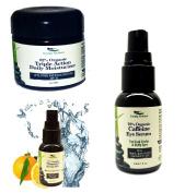 Simply Radiant Beauty Youthful Skin Trio Set- Triple Action Daily Moisturiser, Vitamin C Serum, Caffeine Eye Serum
