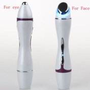 Protable Photon Face & Eye Massager Device by BeautyCC - Ion Micro Current Skin Rejuvenation System - For Removal Wrinkle Fines