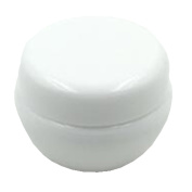 12 Pcs 10g 10Gram 10ml Durable Refillable Empty Makeup Cosmetic Sample Container Cream Lotion Jar Pot Eye Shadow Nail Powder Storage with Internal Leak Proof Lid - White