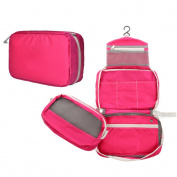 FAMILIFE Cosmetic Bag Small, Detachable Toiletry Bag for Men & Women - Hanging Toiletry Kit for Makeup, Cosmetic, Shaving, Travel Accessories
