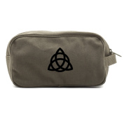 Triquetra Pagan Wiccan Canvas Shower Kit Travel Toiletry Bag Case