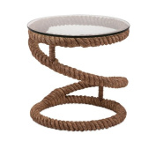 IMAX 89916 Exclusive Bedford Jute Rope Accent Table