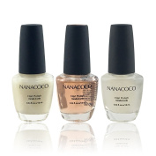 Nanacoco Nail Polish Colour Lacquer Set 3-Piece Collection #27 Care About Them