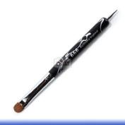 666 Black Acrylic Marble Kolinksy French Nail Brush # 16