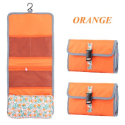 Foldable Small Hanging Toiletry Bag Kit By Dasior, Portable Cosmetic Pouch Organiser For Travel and Home Use