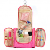 Jmkcoz Portable Large Hanging Toiletry Bag Travel Bag Waterproof Hanging Toiletry Bag Bathroom Storage Makeup Organiser Pink