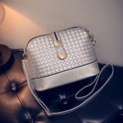 AENMIL Creative Front Lock Decor Messenger Crossbody Bags, Cute PU Leather Shell Satchel Casual Handbag Shoulder Tote