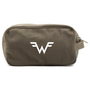 Weezer Canvas Shower Kit Travel Toiletry Bag Case