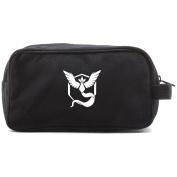 TEAM MYSTIC Canvas Shower Kit Travel Toiletry Bag Case