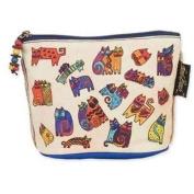 Laurel Burch Feline Minis Cosmetic Bag - Floating Cats