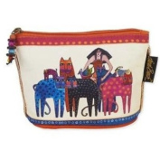 Laurel Burch Feline Minis Cosmetic Bag - Multi-Coloured Cats and Woman