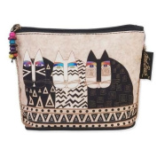 Laurel Burch Feline Minis Cosmetic Bag - Black and White Cats