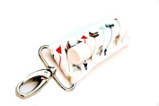 LippyClipTM Chapstick Holder, Lip Balm Holder, Clip-On Chapstick, Navy Coral Mint Gold Arrows