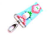 LippyClipTM Chapstick Holder, Lip Balm Holder, Clip-On Chapstick, Blue with Pink/Green Aztec