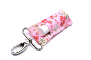 Chapstick Holder, Lip Balm Holder, Clip-On Chapstick, Pink Shabby Chic Floral