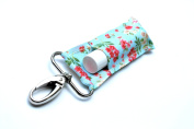 Chapstick Holder, Lip Balm Holder, Clip-On Chapstick, Mint Shabby Chic Floral