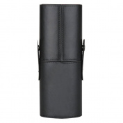 Jack & Rose Travel Makeup Brush Cup Holder 23cm Height Leather Holder Perfect for Taking Travel Brushes - Black