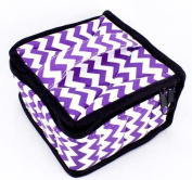 Got Oils® Chevron Black Padded Soft 16 Essential Oils Carrying Case (13cm x 13cm x 7.6cm ) Holds 5, 10 & 15 ml doTERRA, Young Living, Plant Therapy, etc. Bottles