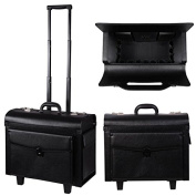 AMPERSAND SHOPS Pro Classic Makeup Rolling Cosmetic Train Case