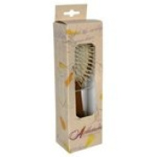 Ambassador Hairbrushes Wooden Pneumatic Brushes Large Oval, Bamboo with Wooden Pins (a) - 2pc