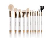Beauty Artisan Make up Brush Set, 12PCS ,including Face Brush, Eyeshadow Brush, Cheek Brush, Brow Brush, Lip Brush, with a Free Gift Box