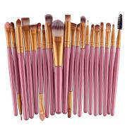 Brush Set, Misaky 20pcs/set Makeup Set tools Make-up Toiletry Kit Wool Make Up Brush