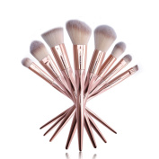 Ucanbe Luxury Makeup Brushes Set 8pcs Premium Synthetic Fibre Hair Professional Powder Eyeshadow Foundation Contour Makeup Brush Set
