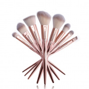 Ucanbe Luxury Makeup Brushes Set 8pcs Premium Synthetic Fibre Hair Professional Powder Eyeshadow Foundation Contour Makeup Brush Set