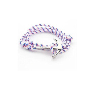 Best selling fashion nylon nautical rope women men anchor bracelet