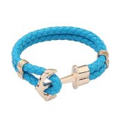 China Supplier Blue Colour Rope Bangles Braided Cuff Bracelet