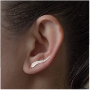 Bestpriceam 1Pair Women Fashion Metal Leaf Earrings Ear Clip Gold