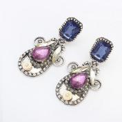 Blue stone fashion jewellery design earring
