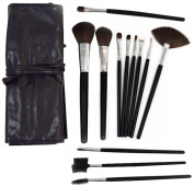 Makeup Brush Set | 12 Piece Makeup Brush with Free Black Make up Brush Case Best for Beginner And Experienced Makeup Users