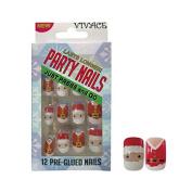 Vivace Kiss able Artificial false nails Adult Christmas Party Nails Fake Nails 11634