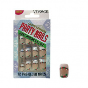 Vivace Kiss able Artificial false nails Adult Christmas Party Nails Fake Nails