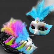 Wensltd 1pc Random Colour Lace Flower Halloween Party Mask Mardi Gras Masquerade