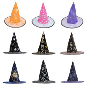 Wensltd Random Colour 1 pc Adult Womens Witch Hat For Halloween Costume Accessory