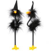 Wensltd Halloween Ball Point Pen Ostrich Pattern Halloween Gift