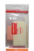 RED Disposable Manicure & Pedicure Sets (10 Sets) + 1 Daisy Beauty ® purse size emery board.