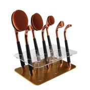 Gift! Wensltd 9 Hole Oval Makeup Brush Holder Drying Rack Organiser Cosmetic Shelf Tool