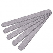 RichBest 10 x Grey Nail Files Sanding 100/180 Curve Banana for Nail Art Tips Manicure