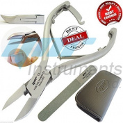 YNR Professional Toe Nail Clippers Nippers Cutters - Chiropody Heavy Duty Thick - Files