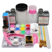 Coscelia 12pc Acrylic Powder 120ml Liquid Remove Nail Tips For Nail Art Manicure Tools