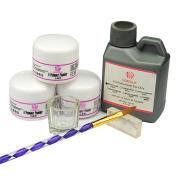 Coscelia Pro Acrylic Powder Liquid Nail Art Tip Dust 3D Mould Brush Deco Set