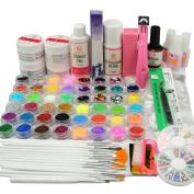 Coscelia UV Gel Top Coat Gel Nail Kits 24pc Glitters Decoration DIY Nail Art Tips Manicure Tools