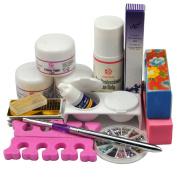 Coscelia Acrylic Nail Art Acrylic Powders Liquid Glue Files For Manicure Kits Professional
