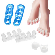 Comprehensive Gel Toe Separators 3 pairs Kit! Toe Spacers, Fanme Toe Stretchers ,Toe Straightener for Yogis, Dancers and Athletes. Pain Relief for Hammer Toe, Bunion, Foot Pain, Plantar Fasciitis