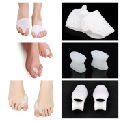 Kalevel® 6pcs Foot Protector Toe Separators for Bunions Toe Straightener Stretchers Silicone Toe Separators Toe Protectors