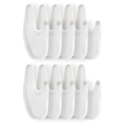 Gel Toe Spreaders (8 Piece Set) Four for each foot.
